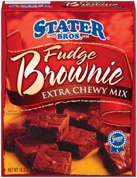 Stater Bros. Fudge Extra Chewy Brownie Mix 18.3 Oz Box
