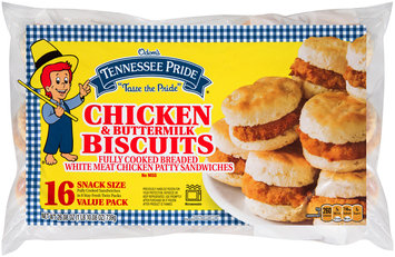 Odom's Tennessee Pride® Snack Size Chicken & Buttermilk Biscuits Sandwich 16 ct Bag