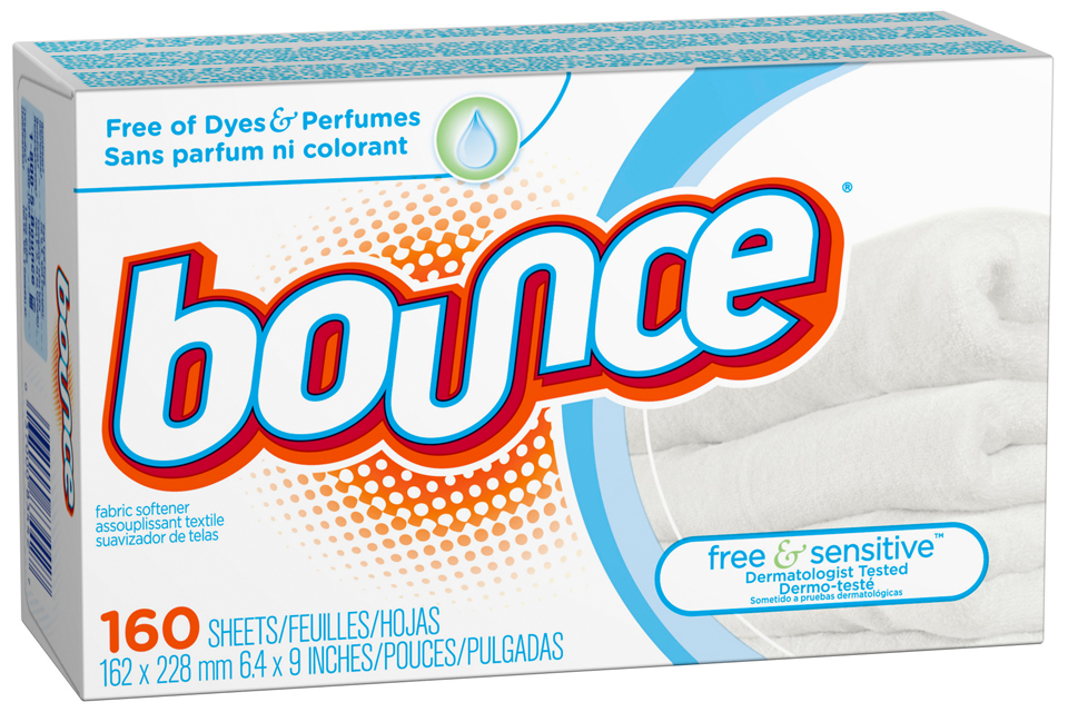 Bounce Free & Sensitive Fabric Softener Sheets 160 ct Box