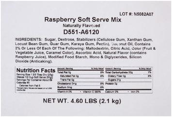 Dole® Raspberry Soft Serve Mix 4-4.6 lb. Bags