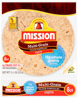 Mission® Multi-Grain Small Fajita Flour Tortillas 8 ct Bag