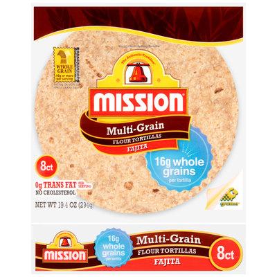 Mission® Multi-Grain Small Fajita Flour Tortillas 8 ct Bag