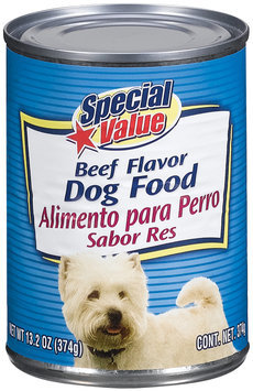 Special Value Beef Flavor Dog Food 13.2 Oz Can