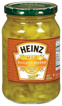 Heinz Mild  Banana Pepper Rings 16 Oz Jar