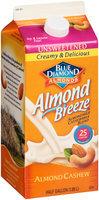 Blue Diamond Almonds® Almond Breeze® Unsweetened Almond Cashew Almondmilk Cashewmilk Blend 1/2 gal. Carton