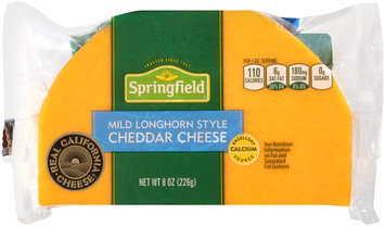 Springfield® Mild Longhorn Style Cheddar Cheese