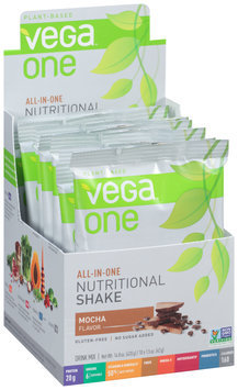 Vega™ One Plant-Based Mocha Flavor Nutritional Shake Drink Mix 10-1.5 oz. Packs