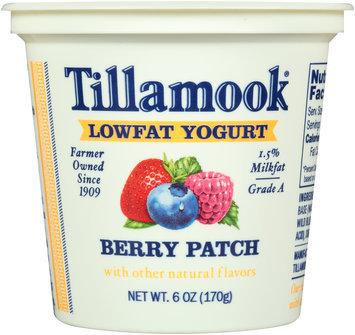 Tillamook® Berry Patch Lowfat Yogurt 6 oz. Cup