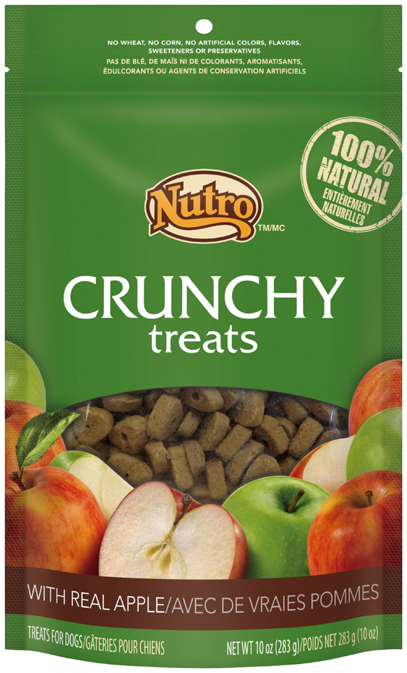 Nutro™ Crunchy Treats with Real Apple 10 oz. Bag