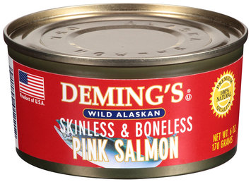 Deming's® Wild Alaskan Skinless & Boneless Pink Salmon 6 oz Can