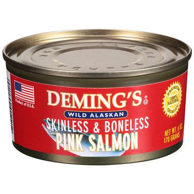 Deming's® Wild Alaskan Skinless & Boneless Pink Salmon 6 oz Can