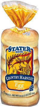 Stater Bros. Egg Country Harvest 6 Ct Bagels 18 Oz Bag