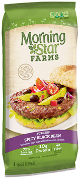 MorningStar Farms® Spicy Black Bean Burger 9.5 oz. Pack