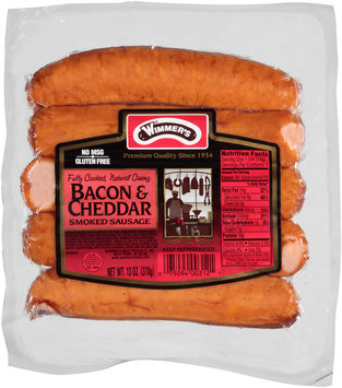 Wimmer's® Natural Casing Bacon & Cheddar Smoked Sausage 5 ct Pack