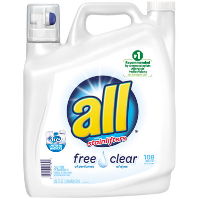 all® free clear Laundry Detergent 108 Loads 162 fl. oz. Bottle