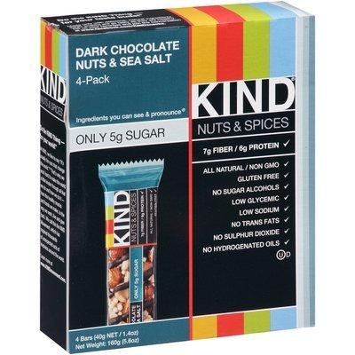 KIND® 4-Pack Dark Chocolate Nuts & Sea Salt 4-1.4 oz. Bars