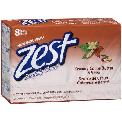 Zest® Creamy Cocoa Butter & Shea Moisture-Rich Bars 8-3.2 oz. Bars