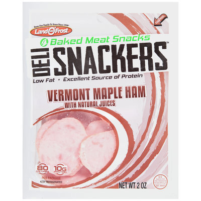 Land O'Frost® Deli Snackers™ Vermont Maple Ham Baked Meat Snacks 2 oz. Bag