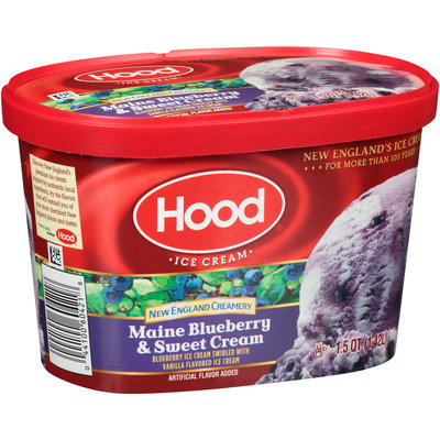 Hood® New England Creamery Maine Blueberry & Sweet Cream Ice Cream 1.5 qt. Carton