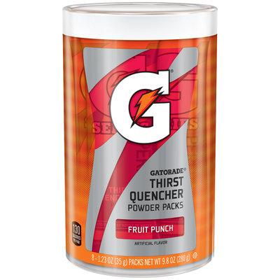 Gatorade® Fruit Punch Thirst QuencherPowder Packs  8-1.23 oz. Canister