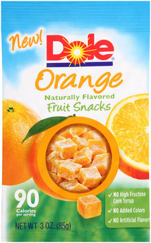 Dole Orange Naturally Flavored Fruit Snacks
