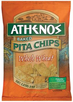 Athenos Baked Whole Wheat Pita Chips 6 Oz Bag