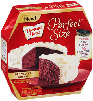 Duncan Hines® Perfect Size™ Red Velvet Dream Cake Mix & Cream Cheese Frosting Mix