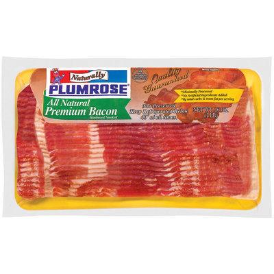 Plumrose Premium All Natural Hardwood Smoked Bacon 16 Oz Pack