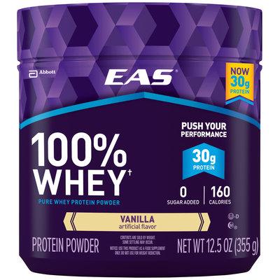 EAS® 100% Whey Vanilla Pure Whey Protein Powder 12.5 oz. Jar