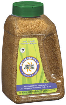 Florida Crystals Demerara Cane Sugar 44 Oz Shaker