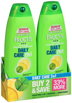 Garnier® Fructis® Daily Care Shampoo and Conditioner 2-Pack for Normal Hair 2-17.3 fl. oz. Bottles