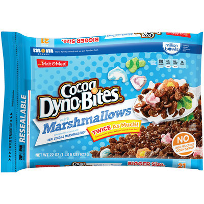 Malt-O-Meal® Cocoa Dyno-Bites® with Marshmallows Cereal 22 oz. ZIP-PAK