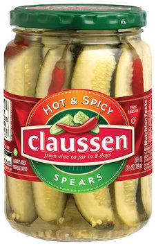 Claussen Hot & Spicy Spears 24 fl. oz. Jar