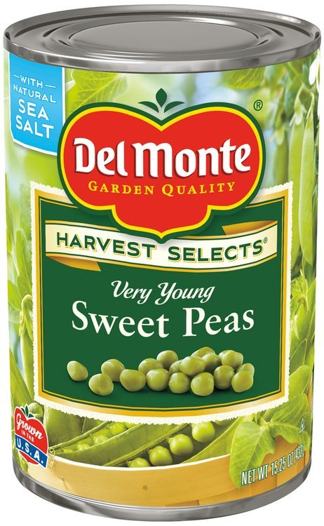 Del Monte™ Harvest Selects™ Very Young Sweet Peas 15.25 oz. Can