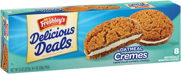 Mrs. Freshley's® Delicious Deals™ Oatmeal Cremes Cookies 8-1 oz. Wrappers