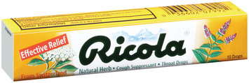 Ricola Natural Herb Cough Suppressant Throat Drops 10 Ct Pack