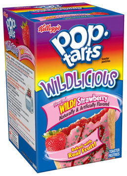 Kellogg's Pop-Tarts Wildlicious Frosted Wild! Strawberry Toaster Pastries