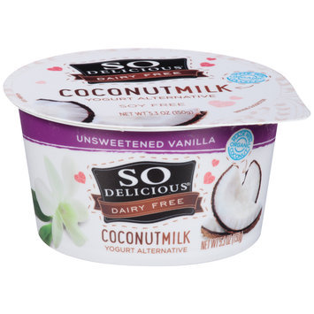 So Delicious® Dairy Free Coconut Milk Unsweetened Vanilla Yogurt Alternative 5.3 oz. Cup