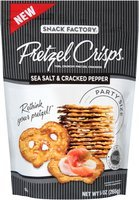 Pretzel Crisps® Sea Salt & Cracked Pepper Pretzel Crackers Party Size 9.35 oz. Bag
