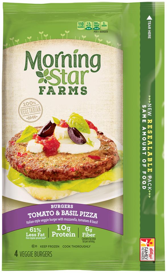 MorningStar Farms® Burgers Tomato & Basil Pizza 9.5 oz. Box