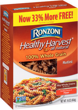 Ronzoni® Healthy Harvest® All Natural Rotini Whole Wheat Pasta 16 oz. Box