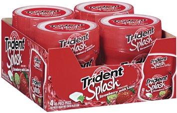 Trident Splash Strawberry W/Lime Sugar Free Center Filled Gum 4-40 Piece Plastic Bottles