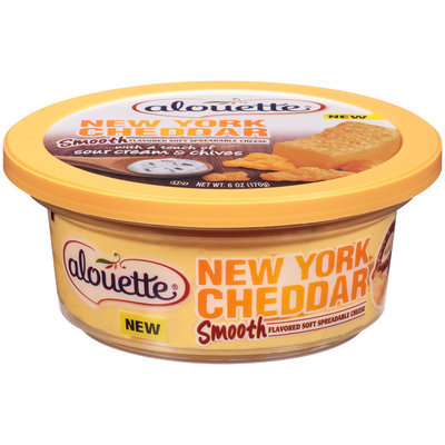 Alouette® New York Cheddar Smooth Flavored Soft Spreadable Cheese 6 oz. Tub