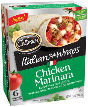 Chefusion™ Chicken Marinara Italian Style Wraps 6 ct Box