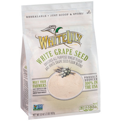 White Lily® White Grape Seed Enriched All Purpose Wheat Flour 32 oz. Packet