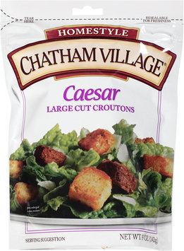 Chatham Village® Caesar Large Cut Croutons 5 oz. Bag