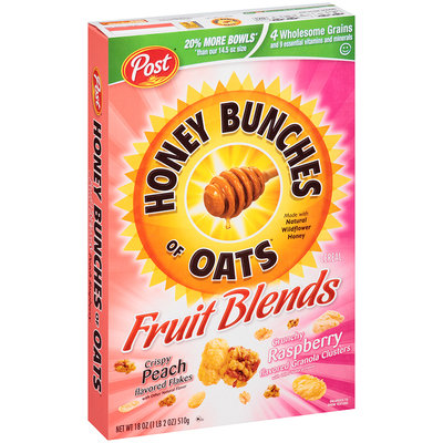 Honey Bunches of Oats Fruit Blends Peach Raspberry Cereal