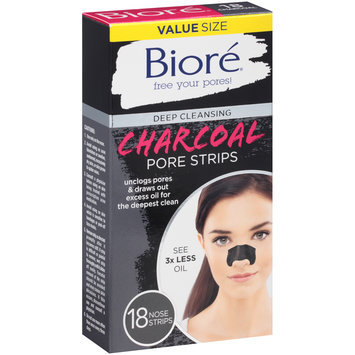 Biore® Deep Cleansing Charcoal Pore Strips 18 ct Box