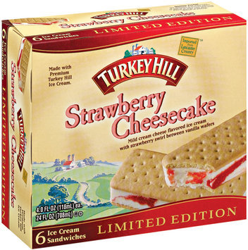 Turkey Hill® Strawberry Cheesecake Ice Cream Sandwiches 24 fl. oz. Box