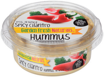 Garden Fresh Natural® Spicy Cilantro Hummus 8 oz. Tub